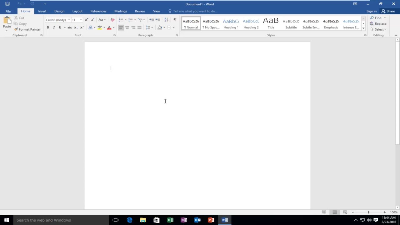 how to hide or show ribbon bar in microsoft word youtube