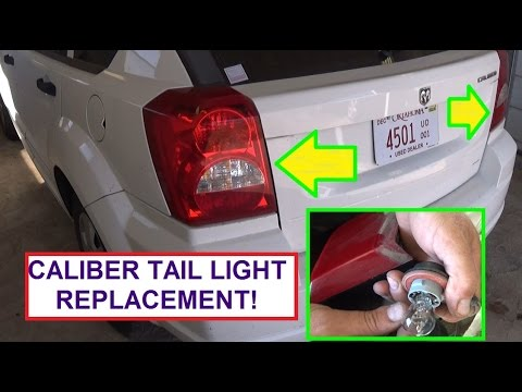 How To Replace Rear Tail Light Bulb Dodge Caliber.  Stop, Turn Signal, Reverse Light Bulb