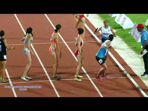 WOMEN'S  4X400m RELAY  FINAL. 22nd ASIAN ATHLETICS CHAMPIONSHIPS-2017