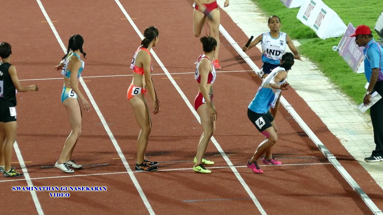 WOMEN'S  4X400m RELAY  FINAL. 22nd ASIAN ATHLETICS CHAMPIONSHIPS-2017