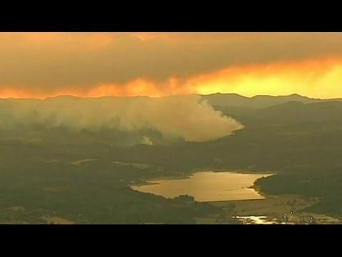 US: wildfire blazes through part of Oregon, September 20, 2014 - euronews (in English)  - YZqtGQQhQ3E -