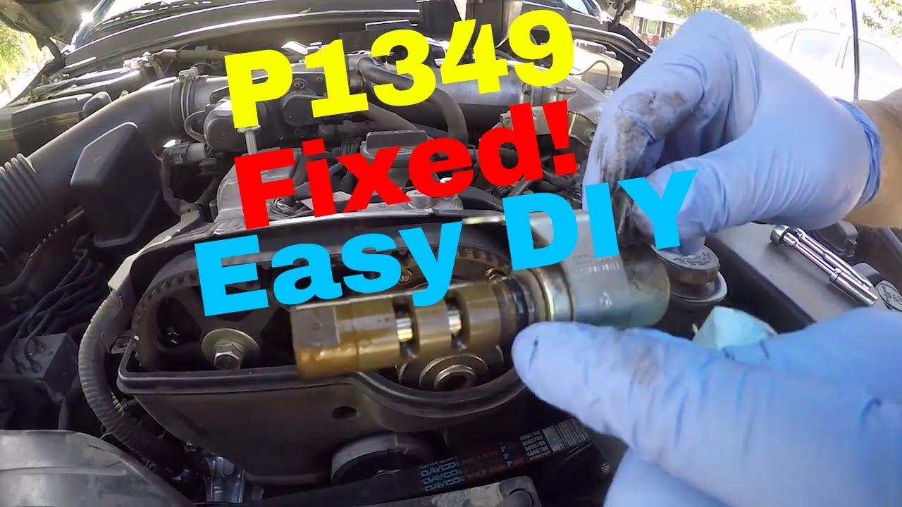 Check Engine Light Code P1349 Fix for Lexus IS300  VVTi Solenoid