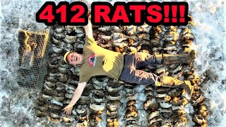RECORD BREAKING 412 RATS Caught with Mink and Dogs!!!