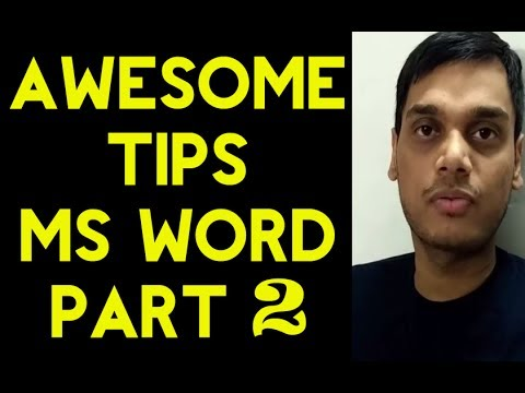 Awesome tips for MS word  part 2 |  Ms word tips | Very helpful for formatting | Hindi