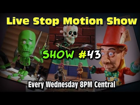 Live Stop Motion Podcast #43 Armature Under-Skulls, Sculptirs,  3-D Printed Parts, Tinkercad