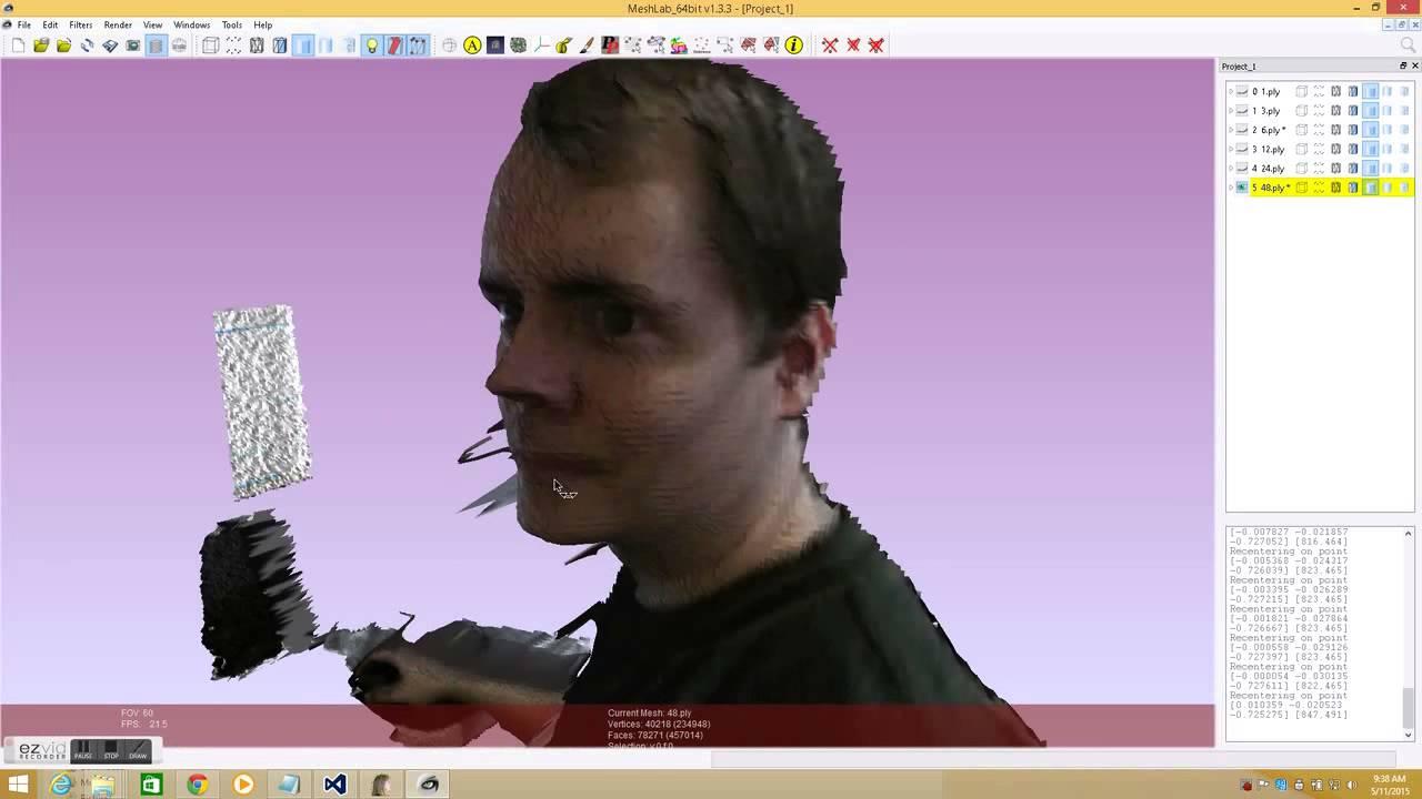Kinect V2 Improving Scan Quality with Multiple Frames
