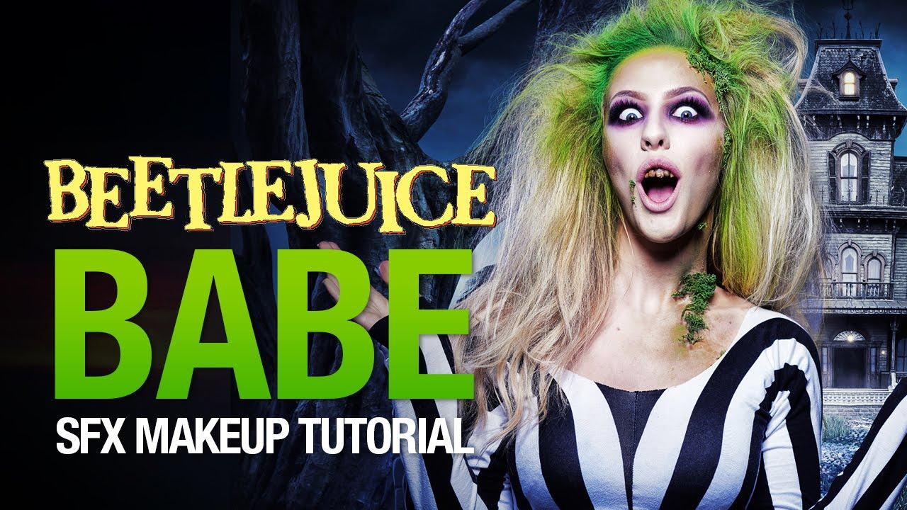 beetlejuice babe halloween makeup tutorial - youtube