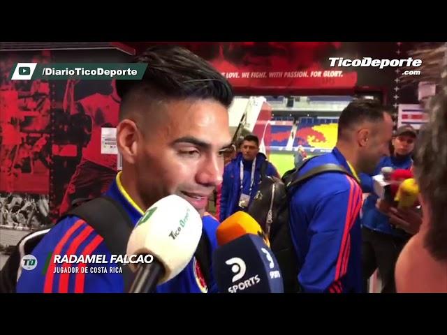 Radamel Falcao tras el triunfo ante Costa Rica