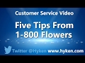 Customer Service Tip: Five Lessons From 1-800-Flowers