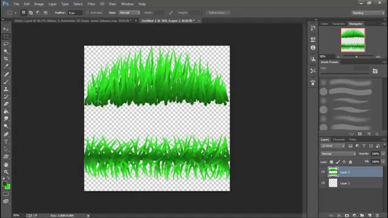 2d Game Art For Non Artists 5 Awesome 2d Grass Youtube