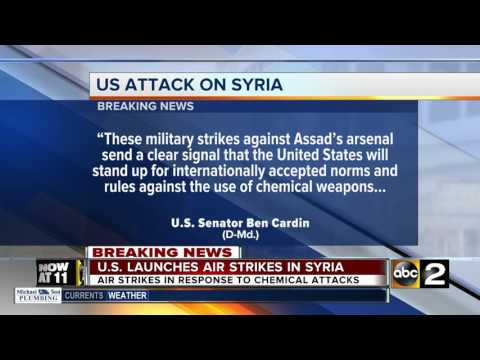 Senator Ben Cardin reacts to strike on Syria