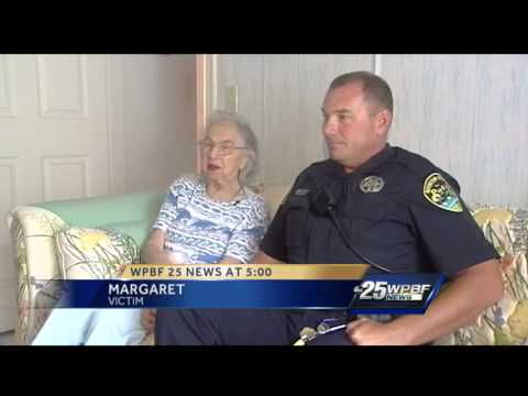 Police officer goes beyond call of duty to help elderly crime victim