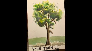 QUICKIES: Paint a tree in watercolor