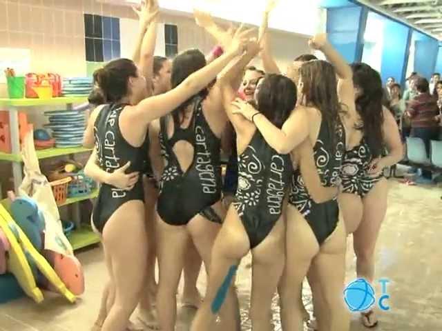 Así celebra el Waterpolo Cartagena la victoria. Enhorabuena