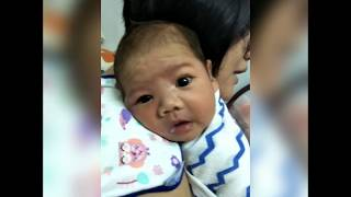 Baby burping after meal