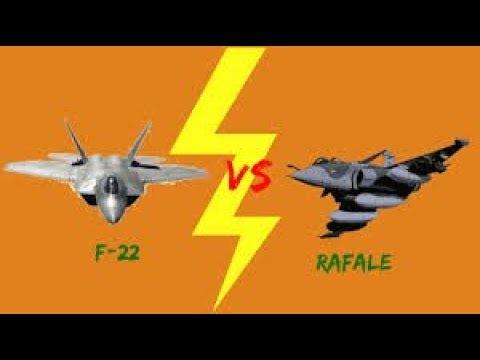 F22 vs Rafale, Dogfight | aircraft - YouTube