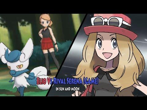 Pokemon Sun and Moon: Elio Vs Serena (Pokemon Rival Serena from X and Y)