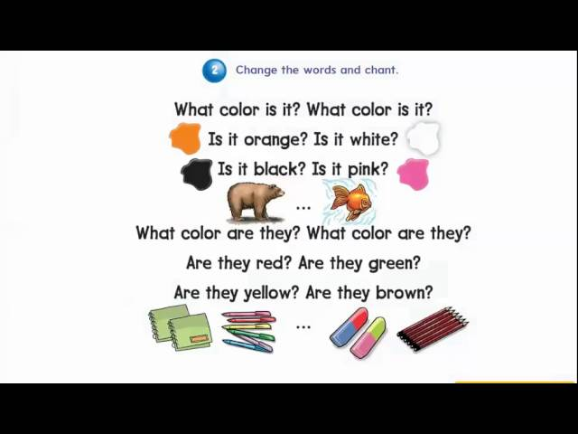 What colour is it chant 4th grade 1st term we can