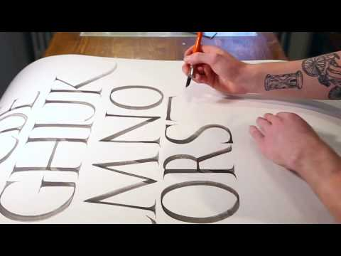 HOW TO WRITE ROMAN CAPITALS CALLIGRAPHY ALPHABET WITH NICOLO