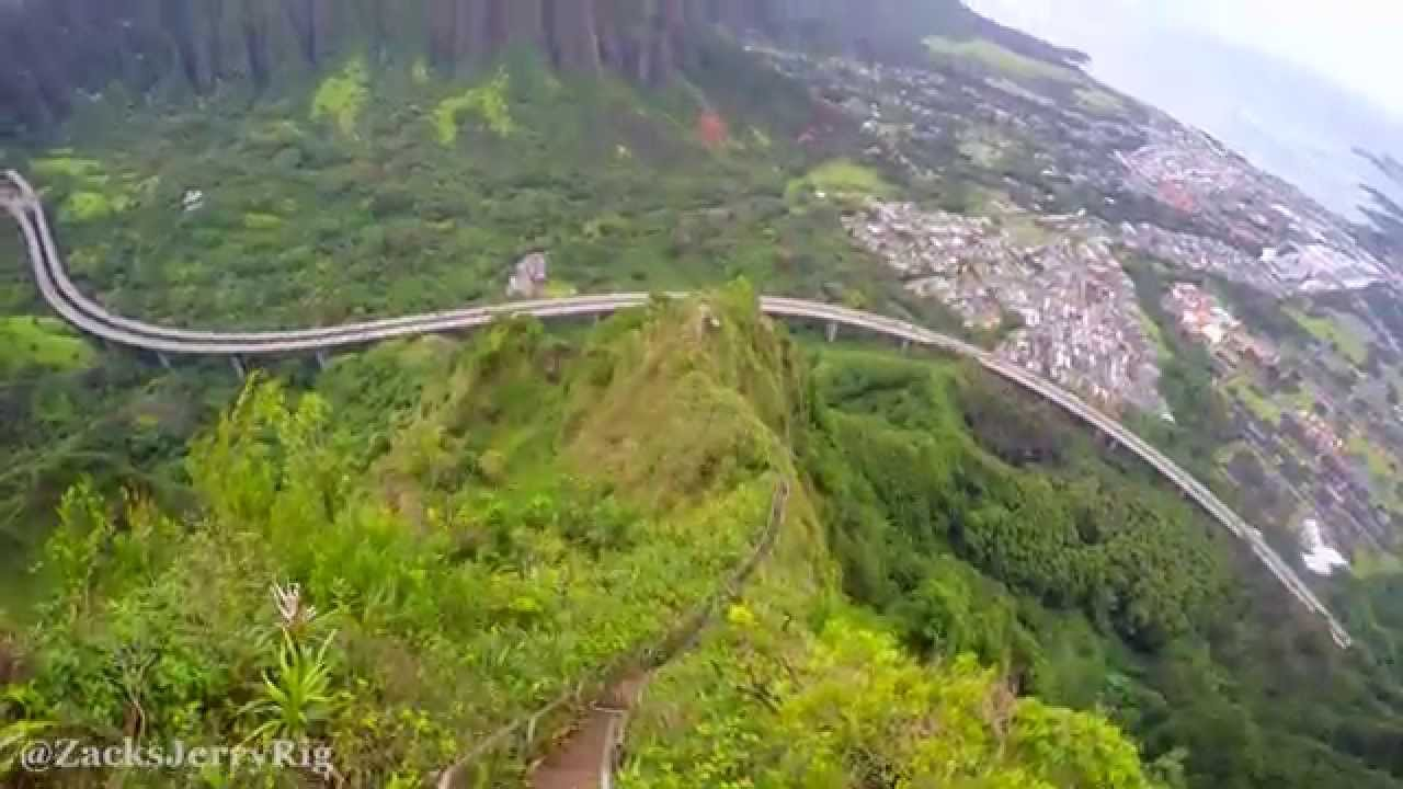 Haiku Stairs Stairway To Heaven Hawaii Hike In 4k 2015 Youtube