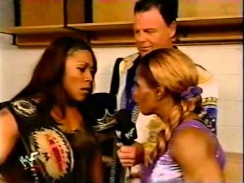 WWF Heat - Jazz and Jacqueline Backstage