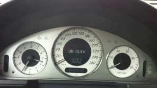 Мерседес E-класу W211 поради та хитрості: акумулятор перевірити напругу