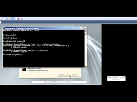 Windows Server 2008 R2 üzerinde Administrator Şifresini Resetlemek; - Adem ÖCÜT (MCP - MCSA )