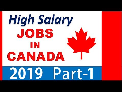 High Salary Jobs In Canada