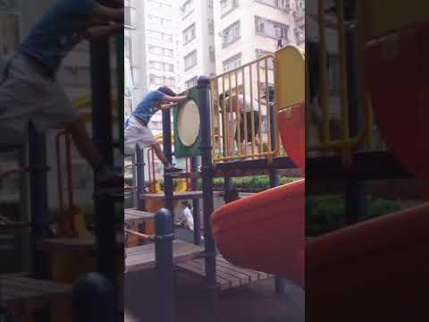 Max & Joshua in the park 😜