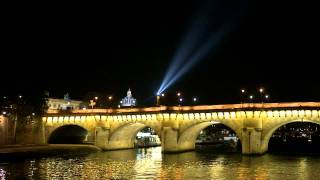 Paris from the river Seine at night