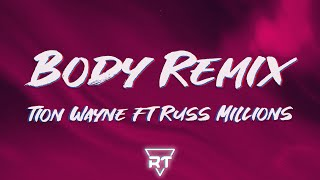 Tion Wayne, Russ Millions - Body Remix (Lyrics) | English girl named Fiona