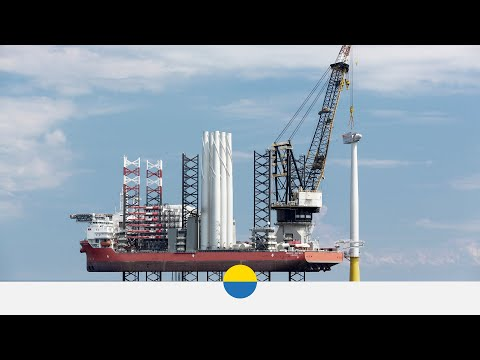 Time-lapse of Turbine 1 installation at Vattenfall's EOWDC Aberdeen - Vattenfall