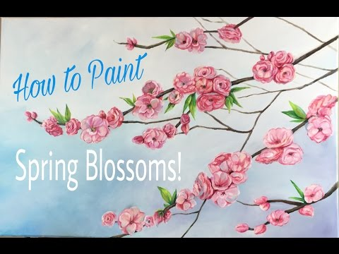Spring Blossom Tree Branch Oil Painting Tutorial - By Artist, Andrea Kirk | The Art Chik