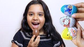 shfa learn color with kinder egg chocolate - Kinderlieder und lernen Farben lernen