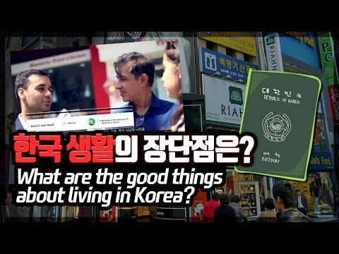 Advantages and disadvantages of living in Korea according to foreigners 한국생활의 장단점