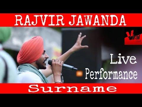 Rajvir Jawanda Live Performance song Surname on Campus Saugaat at Punjabi University, Patiala