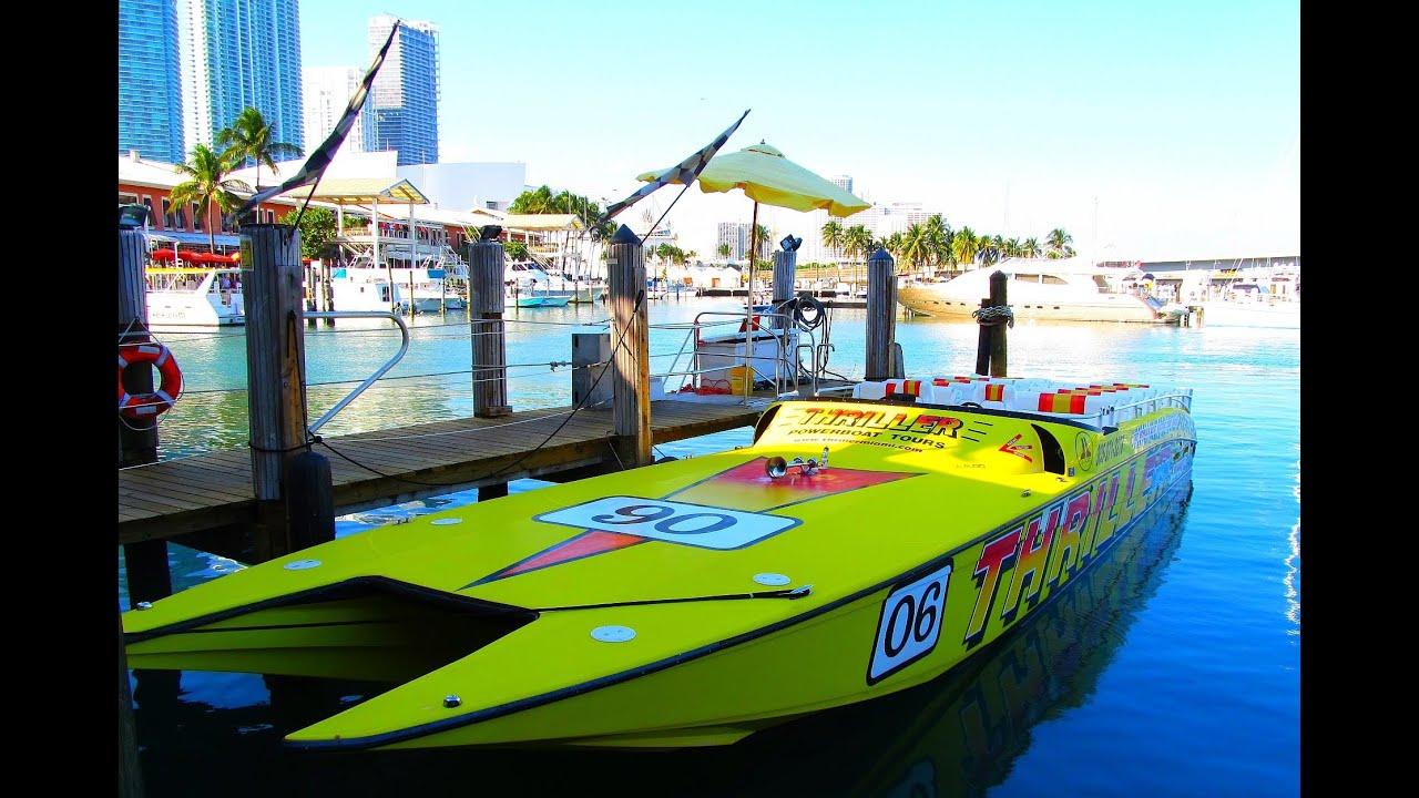 Miami Thriller Speed Boat Ride YouTube