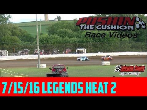 Lafayette County Speedway 7/15/16 Legends Heat 2