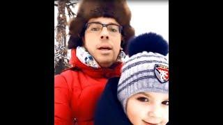 Максим Галкин. Катаемся с Лизой и Гарри на санках ))