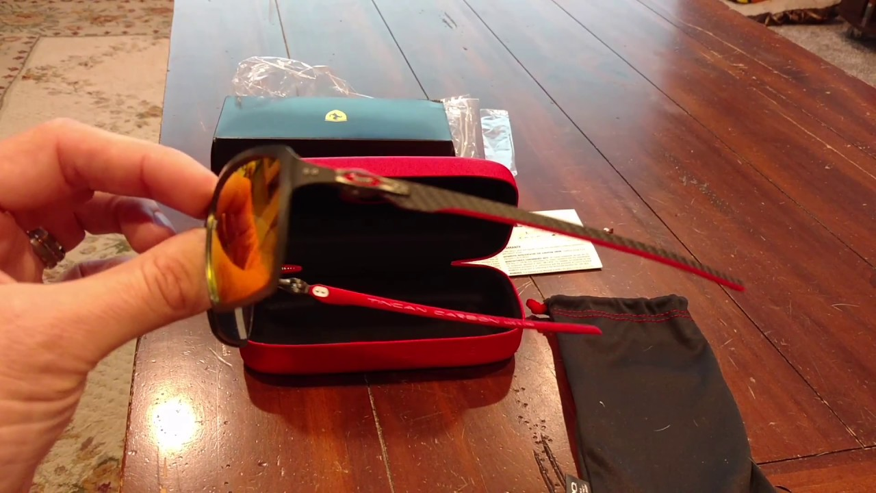 e49e58c2985 Box Opening Oakley Scuderia Ferrari Tincan Carbon Sunglasses - YouTube