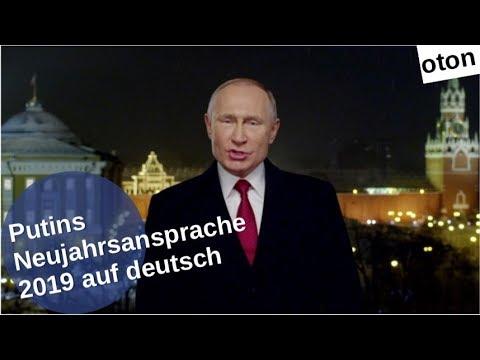 Putins Neujahrsansprache 2019 auf deutsch