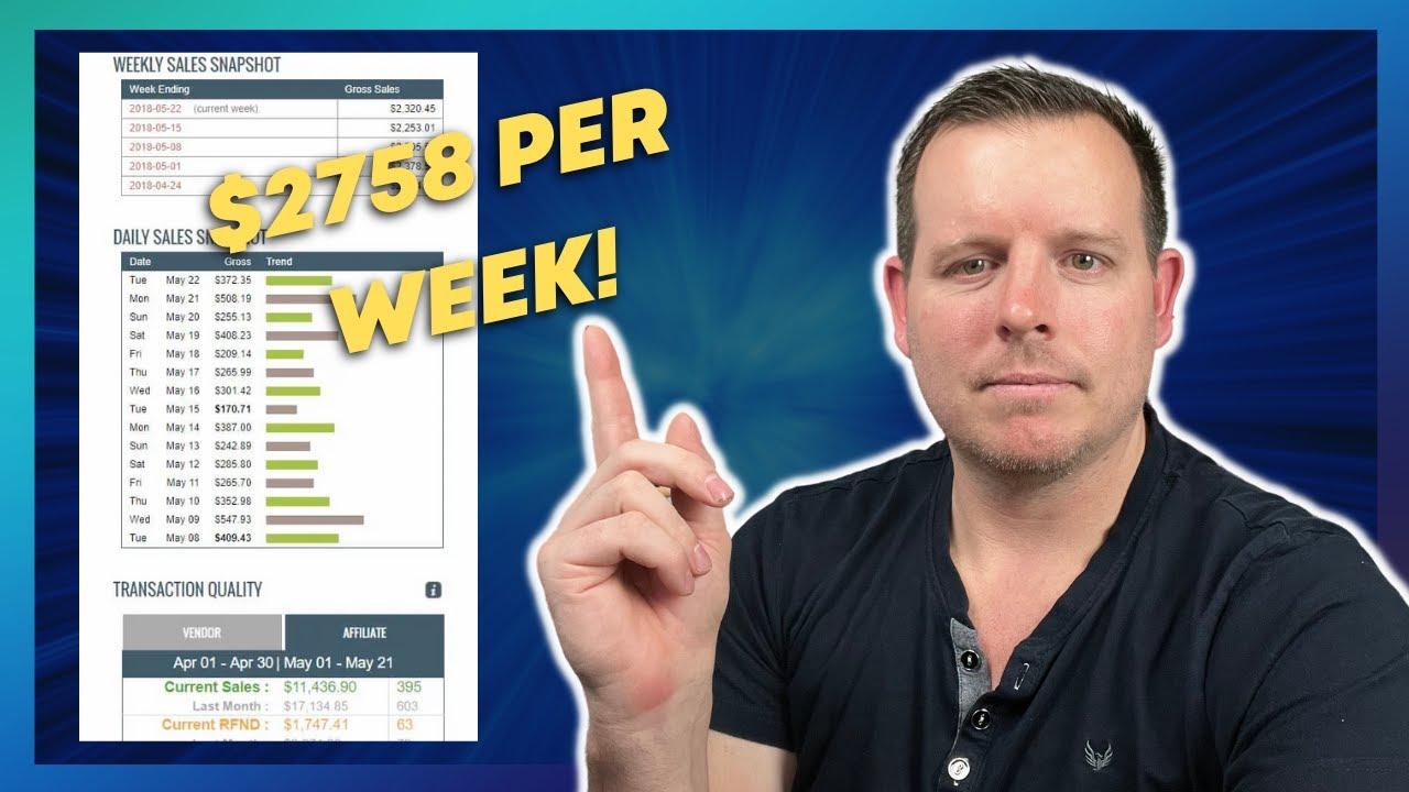 $2758+ PER WEEK - Clickbank Affiliate Marketing Case Study (Passive Income)