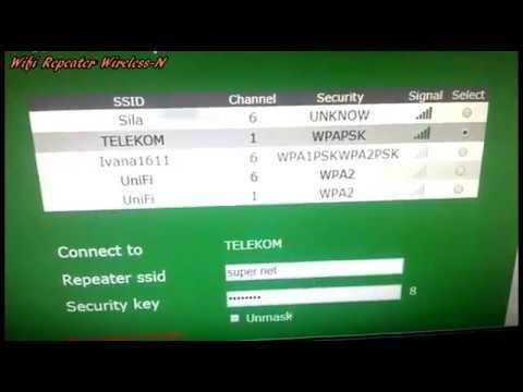 Wifi Repeater Wireless N Setup