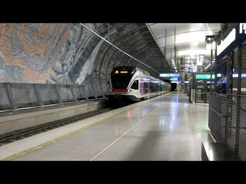 VR JKOY Class Sm5 Departing Lentoasema Flygplatsen Airport Railway Station, Helsinki, Finland