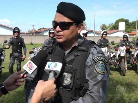 Polícia Militar recebe motos para auxiliar policiamento, 12 policiais recebem curso de moto patrulha