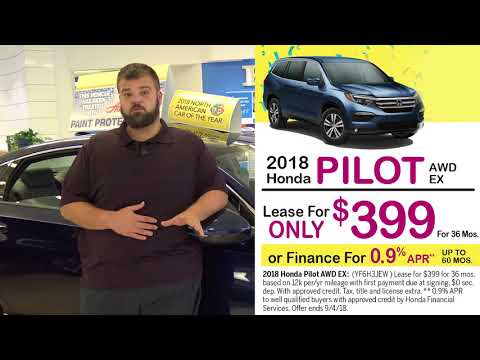 Honda Accord and Pilot Lease and Finance Specials at Smail (Aug 2018)