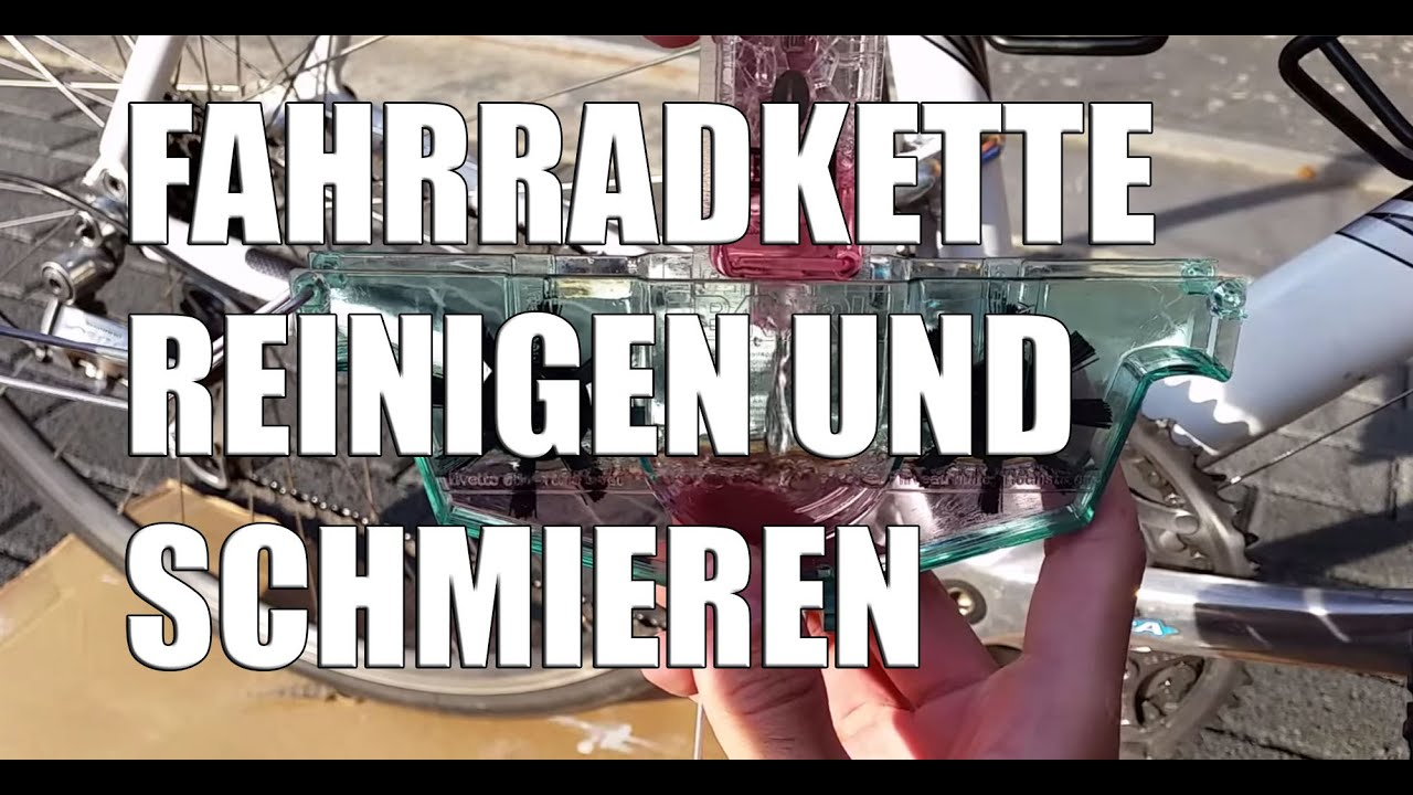 Fahrrad Kette Reinigen : fahrradkette reinigen und schmieren mit dem kettenreiniger youtube ~ Watch28wear.com Haus und Dekorationen