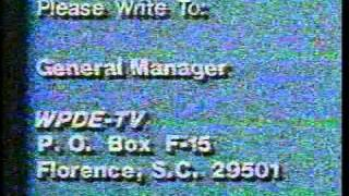 wpde tv 15 florence myrtle beach sc sign off from circa 1991