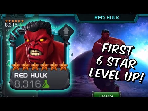 6 Star Red Hulk Level Up, Abilities & Gameplay! - Marvel Contest Of Champions