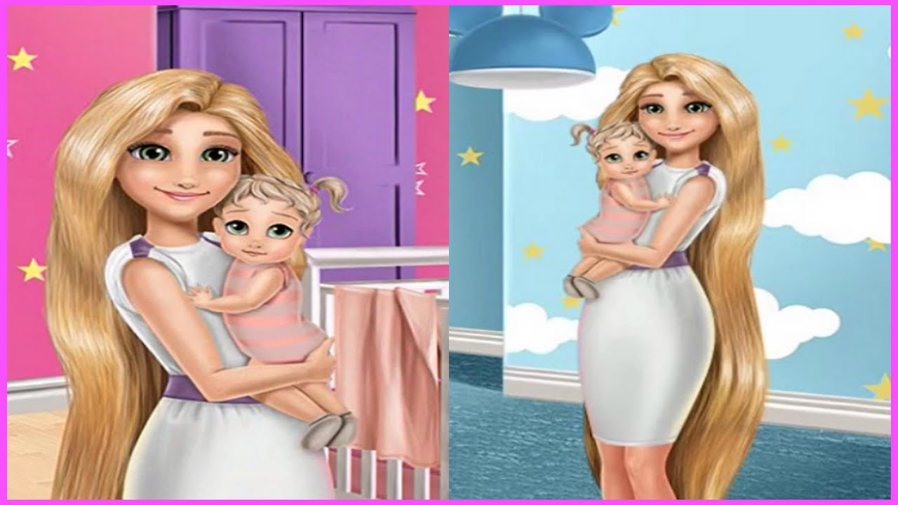 Watch Mommy Rapunzel In Home Decoration Video Newest Baby Decor Games Movies Youtube